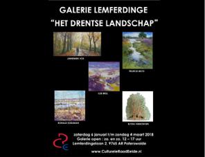 6 januari t/m 4 maart: HET DRENTSE LANDSCHAP Galerie Lemferdinge, Lemferdingelaan 2, 9765 AR Paterswolde Opening op 6 januari 15.00 uur